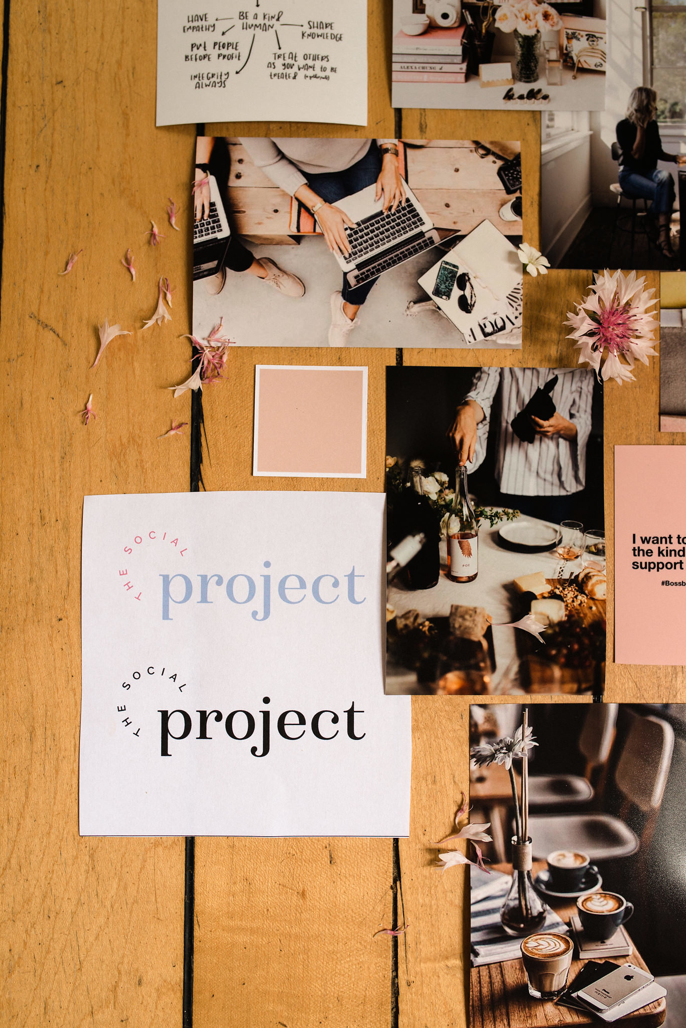 The Social Project, Barrie Social Project, Barrie Social, Branding, Social Media, Creative, Creative Collaboration, Girl Boss, Barrie Boss Babes, Entrepreneurs, Graphic Design, Mood Board, Branding Process